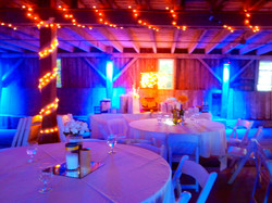 Nice lights brighten the barn