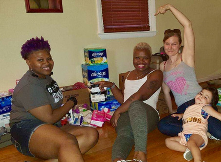 SSPW Celebrates Our 7th birthday By Collecting Items For Our 2nd Annual Feminine hygiene drive