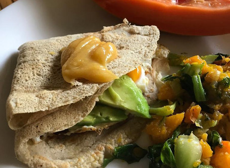 Jungle breadfruit Crepes (vegan)