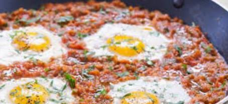 """""""Rancheros"""" eggs, Caribbean style"""