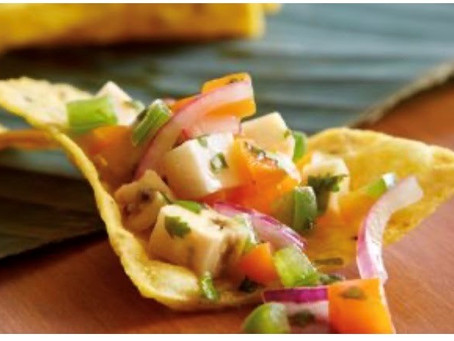 "Green plantain ""Ceviche"""