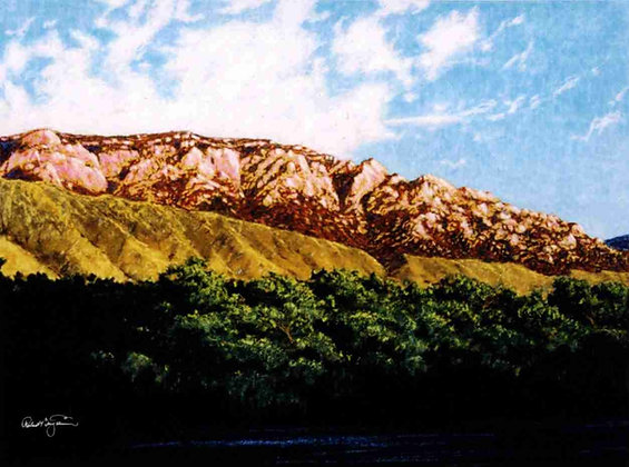 """Sandia Mountain at Rio Grande, NM"""