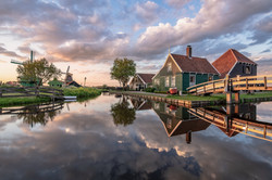 Sonnenuntergang in Holland