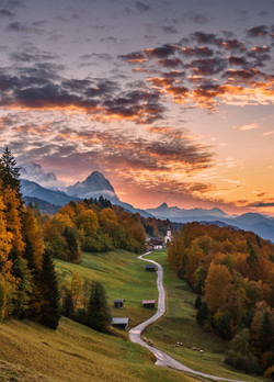 Sonnenuntergang in Oberbayern