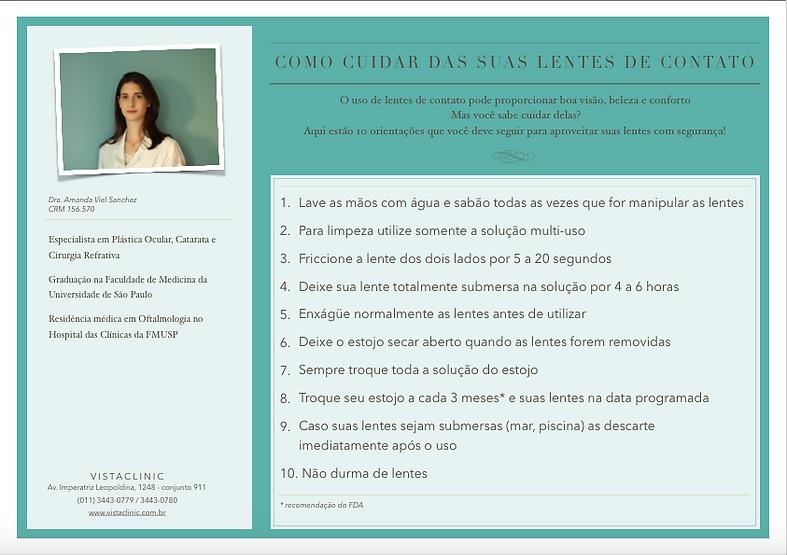 Cuidados com Lente de Contato - Lentes Gelatinosas | Dra. Amanda Viel Sanchez