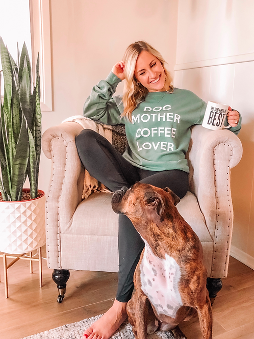 Dog Mother Coffee Lover Sweater