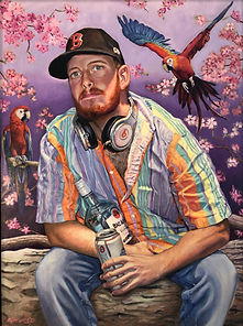 SELF PORTAIT with birds.jpg