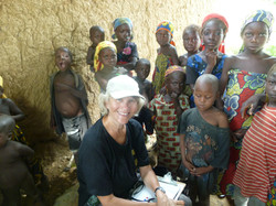 Margrit with kids