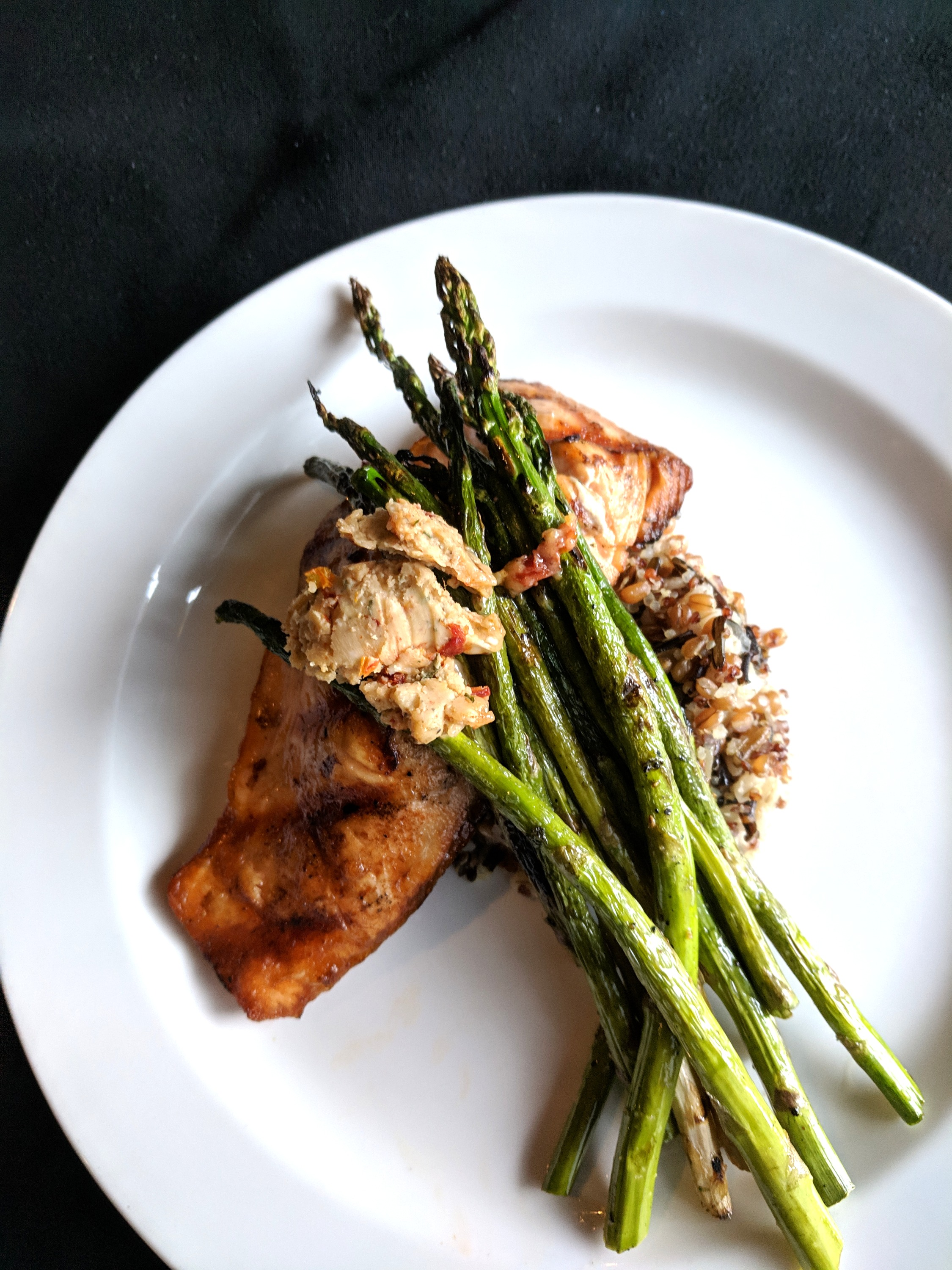 Grilled Salmon with Sundried Tomato Sage Butter