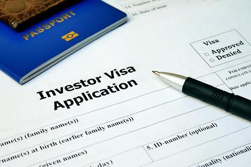 Application for Investor visa