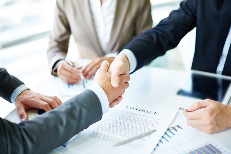 Handshake over contract