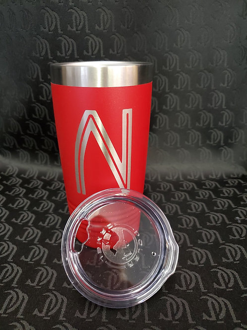 Stainless Steel Tumbler with Classic Marquee N