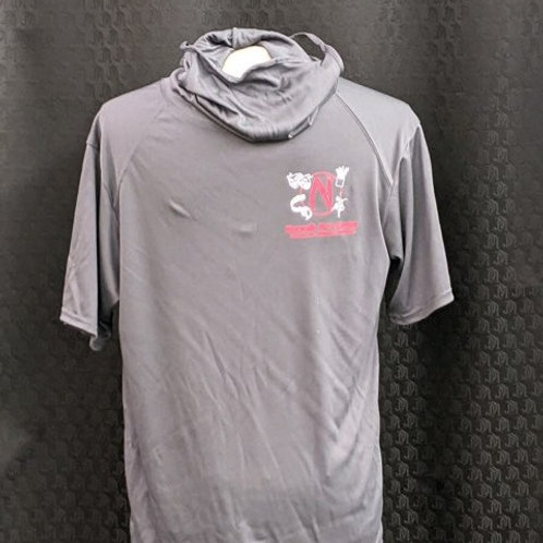 Short Sleeve Performance Shirt with Intergrated Face Mask