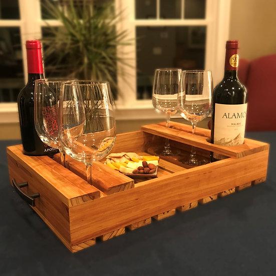 Wine Serving Tray (Slatted Bottom)