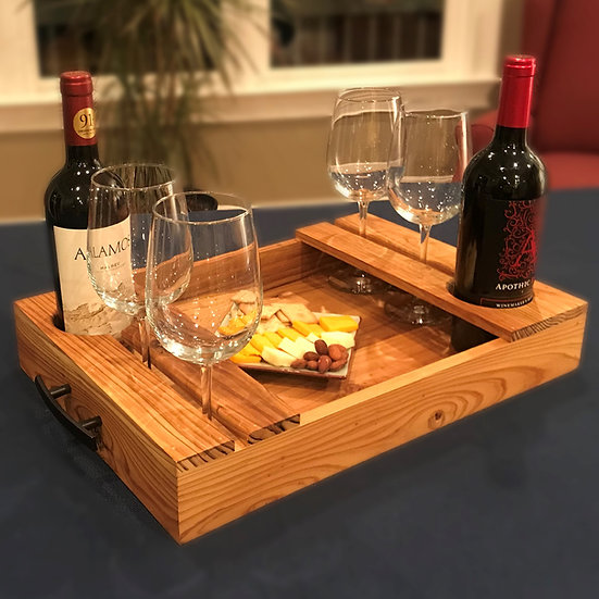 Wine Serving Tray (Solid Bottom)