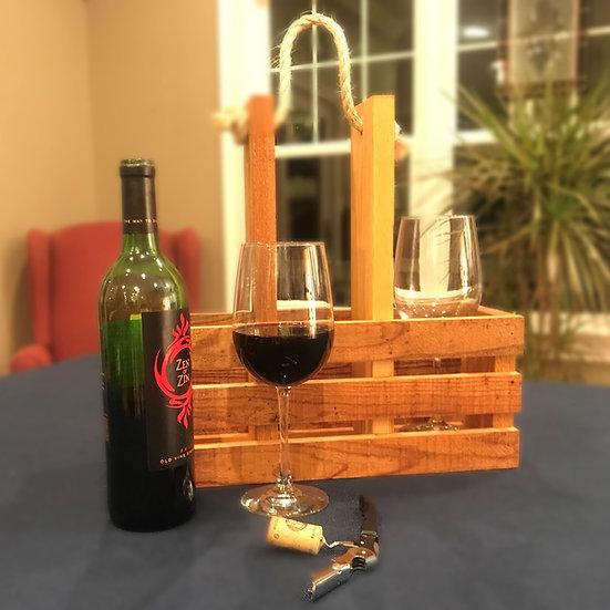 Wine & Glass Caddy