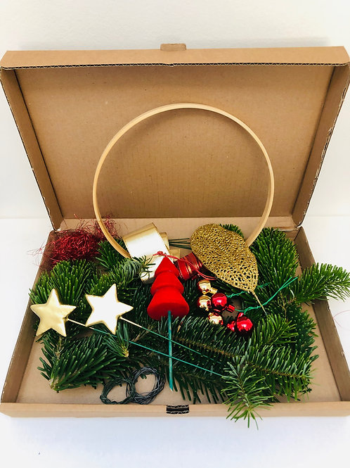 "Kit Couronne ""Noël Scintillant"" - DIY"