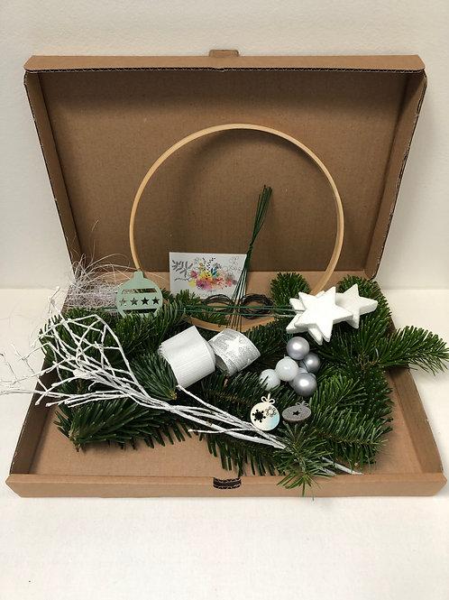 """Kit Couronne  """"Noël Blanc""""  -     DIY"""
