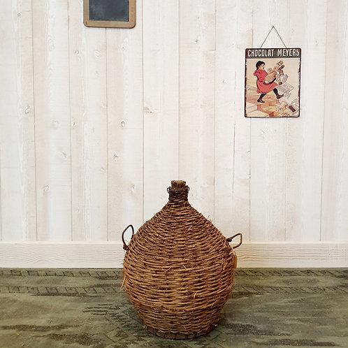 Ancienne Dame Jeanne ou bonbonne brocante décoration vintage