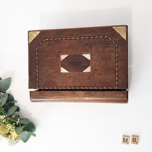 Ancienne Boîte bois made in brocante livre enfer dante