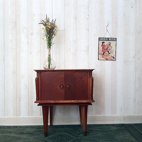 Ancienne Table de chevet bois brocante petit meuble vintage