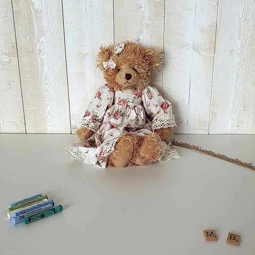 Ancienne Peluche Ourse Brocante vintage shabby chic