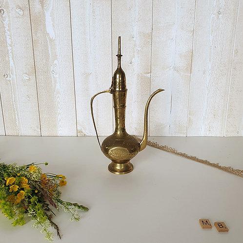 Ancienne Verseuse orientale en laiton théière brocante vintage