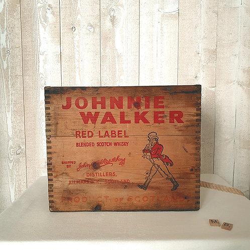Caisse en bois Johnnie Walker