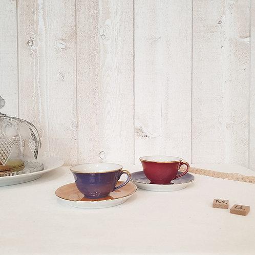 tasses café porcelaine dure