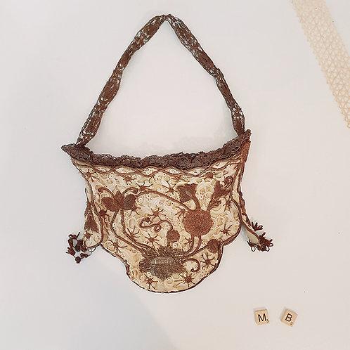 ancien Petit sac de bal styleArt Nouveau brocante shabby chic vintage