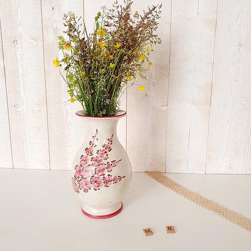 Ancien Vase en céramique brocante shabby chic vintage