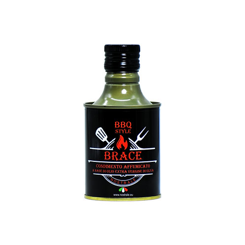 """Brace"" olio extra vergine di oliva affumicato 250ml Nostrale Italian selection"