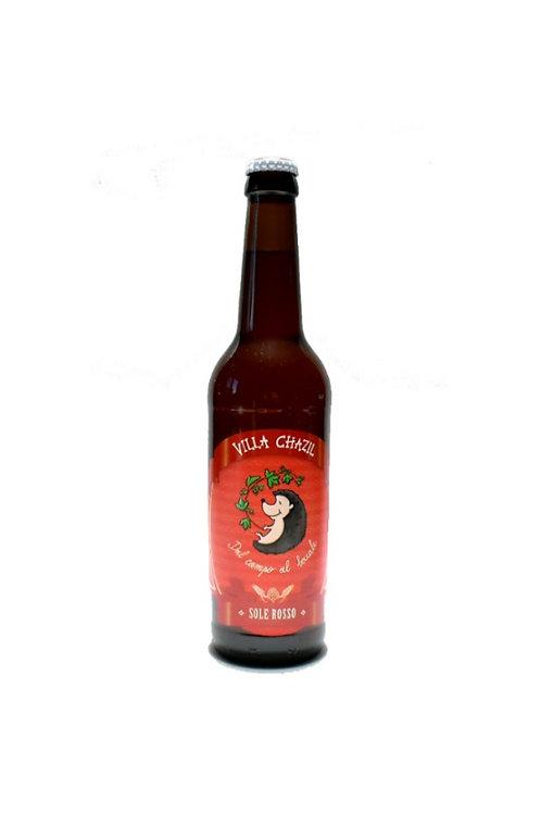 Birra artiginale Sole Rosso Villa Chazil