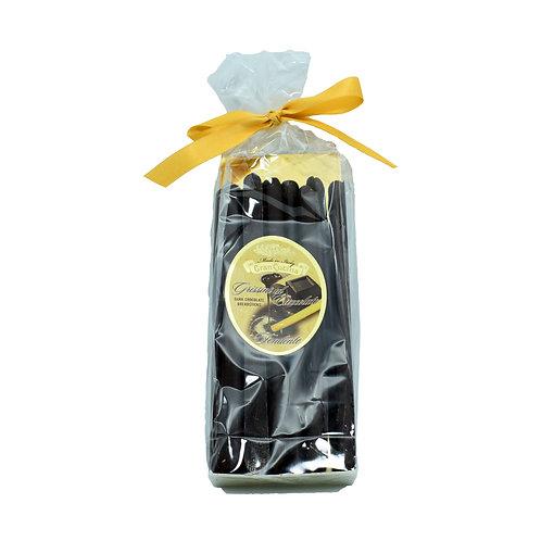 Grissini torinesi ricoperti di cioccolato fondente 200gr. Nostrale