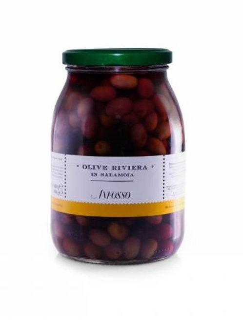 Olive Riviera in salamoia Olio Anfosso