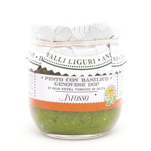 Pesto con Basilico D.O.P. Ligure 180gr. Olio Anfosso