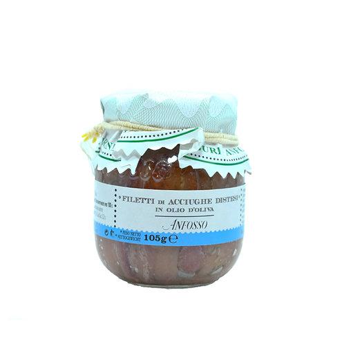 Filetti di Acciughe distesi in olio d'oliva 105gr. - Olio Anfosso