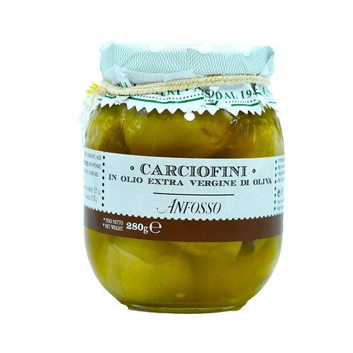 Carciofini in olio extravergine di oliva 280gr. Olio Anfosso