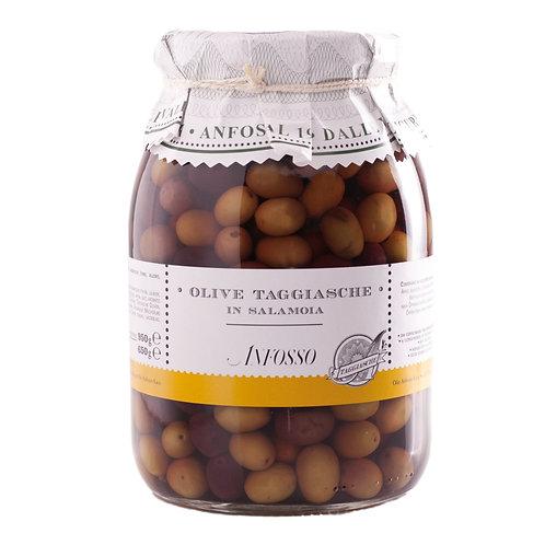Olive Taggiasca in salamoia 950gr. - Olio Anfosso