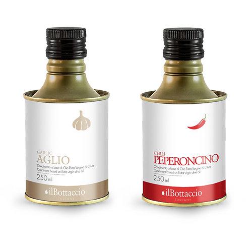 Olio EVO infuso con aglio e peperoncino 250ml. il Bottaccio