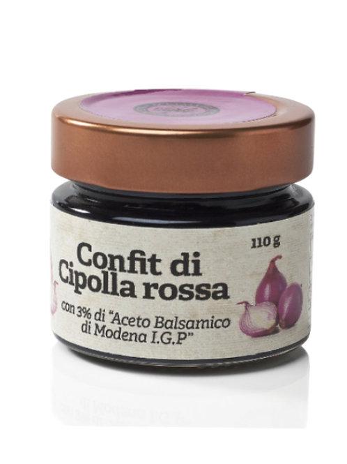 Confit di cipolle rosse e aceto balsamico di Modena IGP  110gr. - Acetaia Castelli