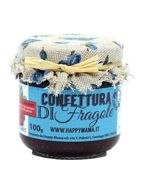 Confettura di fragole 100gr. - Happymama