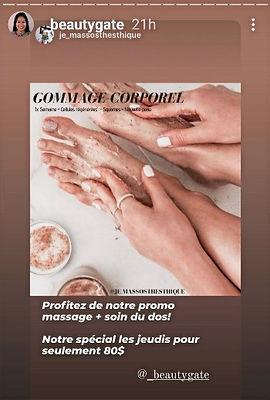 Spécial du jeudi sur le massage avec soins du dos à Beauty Gate Laval