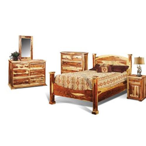 Natural Pine Rustic 6-Piece Queen Bedroom Set - Tahoe