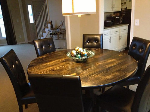 Round Farmhouse Table - Customizable