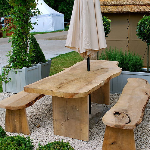 Solid Wood Table & Benches