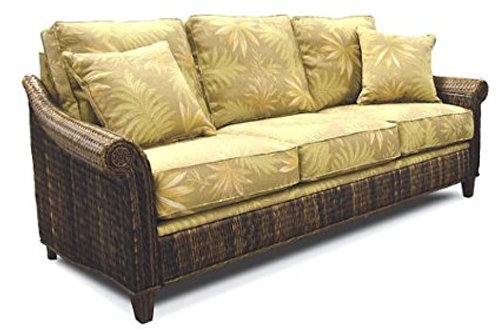 Rattan and Wicker Sleeper Sofa