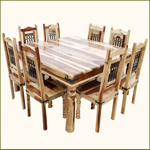 8 Solid Wood Dining Table Set