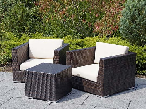 Rattan Armchairs and Terrace Table