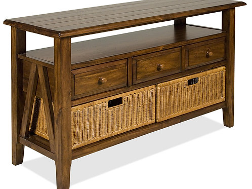 3 Drawer Console Table with Storage Baskets